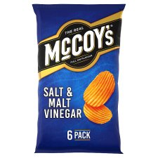 Mccoy's Salt And Malt Vinegar Crisps 6X25g
