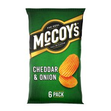 Mccoy's Cheddar And Onion Crisps 6X25g