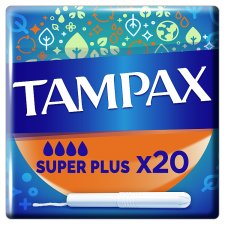 Tampax Super Plus Tampons Applicator 20 Pack