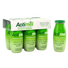 Actimel Fruit And Vegetable Smoothie Green 6X100g