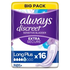 Always Discreet Long Plus Incont Pads 16 Pack