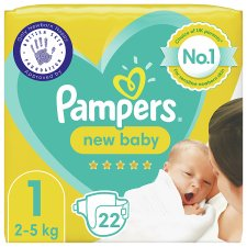 Pampers New Baby Size 1 22 Nappies