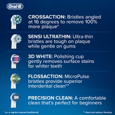 Oral-B Cross Action Electric Brush Heads 4 Pack