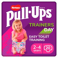Huggies Pull Ups Pink Training Pants 2-4 Years Day 20 Pack