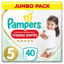 Pampers Premium Pants Size 5 Jumbo Bags 40 Nappies