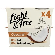 Light And Free Grk/Style Coconut Yoghurt 4X115g