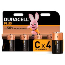 Duracell Plus C 4 Pack
