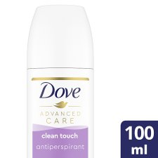 Dove Advanced Care Clean Touch Roll On Antiperspirant Deodorant 100Ml