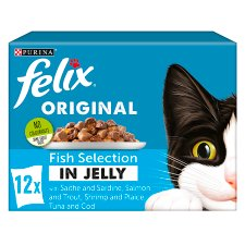 Felix Cat Food Fish Selection In Jelly 12 X 100G