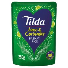 Tilda Lime & Coriander Steamed Basmati Rice 250G