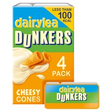 Dairylea Dunkers Cheesy Cones 4 Pack 160G