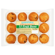 Comerfords 12 Fruit Buns 320G