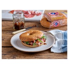 New York Bakery Soft Seeded Bagel Thins 4 Pack