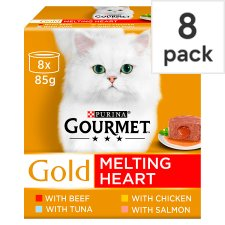 Gourmet Gold Melting Heart Mixed Cat Food 8X85g