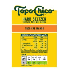 Topo Chico Hard Seltzer Tropical Mango 4X330ml