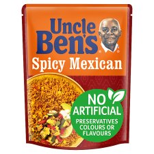 Unc Bens Microwave Spicy Mexican Rice 250G