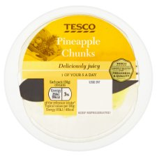 Tesco Pineapple Chunks 130G