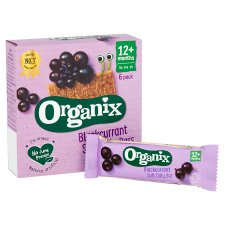 Organix 12 Month Blackcurrant Fruit And Cereal Bar 6X30g