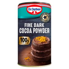 Dr Oetker Fine Dark Cocoa Powder Tub 190G