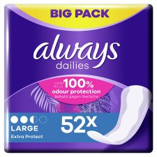 Always Dailies Extra Prot Large Panty Liners 52 Pack