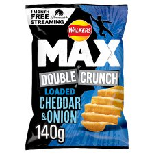 Walkers Max Double Crunch Chedder Onion 140G