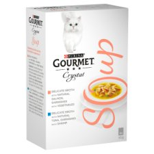 Gourmet Soup With Salmon 4X40g Cat Food
