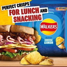 Walkers Cheese & Onion Crisps 6 X 25 G
