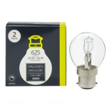 Tesco Halogen 42W Mini Globe Bayonet Cap 2 Pack
