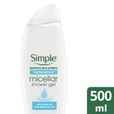 Simple Water Boost Micellar Water Shower Gel 500Ml