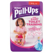 Huggies Pull Ups Girl Large Size Large 14 Pack