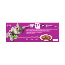 Whiskas 1+ Jelly Poultry Cat Food Pouches 40 X100g