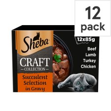 Sheba Craft Cat Food Pouch Gravy Succulent 12X85g