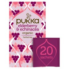 Pukka Elderberry And Echinacea Organic 20 Tea Bags 40G