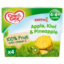 Cow & Gate Fruit Cups Apple, Kiwi And Pineapple 4X100g