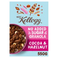 W.K Kellogg No Added Sugar Cocoa And Hazlenut Granola 550G
