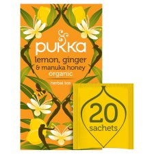 Pukka Organic Lemon And Ginger Honey 20 Tea Bags 40G