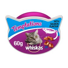 Whiskas Salmon Temptations Cat Treats 60G