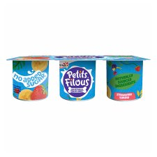 Petis Filous No Added Sugar Strawberry Banana Fromage Frais 6 X 47G