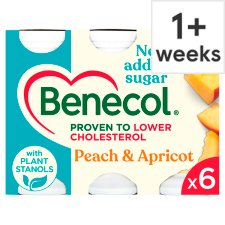 Benecol Peach And Apricot Yoghurt Drink 6 X67.5G