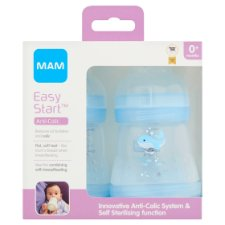 Mam Anti Colic Bottle 0+ Months 160Ml X2