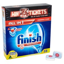 Finish All In 1 Dishwasher Tablets Lemon 34S