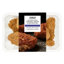 Tesco Southern Fried Brded Chicken Drumsticks And Thighs 950G