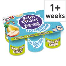 Petis Filous No Added Sugar Apple Pear And Banana Fromage Frais 6 X 47G