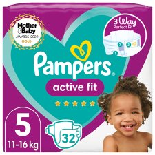 Pampers Active Fit Size 5 32 Nappies Essential Pack