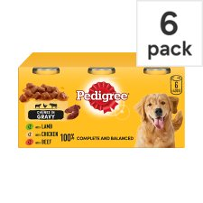 Pedigree Can Mixed Variety In Gravy Dog Food Tins 6X400g