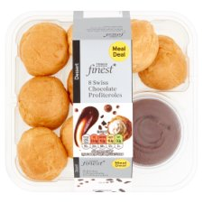 Tesco Finest 8 Swiss Chocolate Profiteroles 161 G