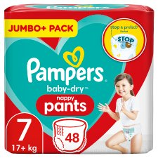 Pampers Baby Dry Pants Jumbo Cube Pack Size 7 48 Nappies