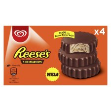 Reese's Peanut Butter Ice Cream Cups 4 Pack 280Ml