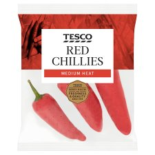 Tesco Red Chillies 60G