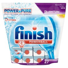 Finish Quantum Dishwasher Tablets Power And Pure 27S